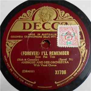 Ambrose And His Orchestra - (Forever) I'll Remember / Goodbye Sally download flac mp3